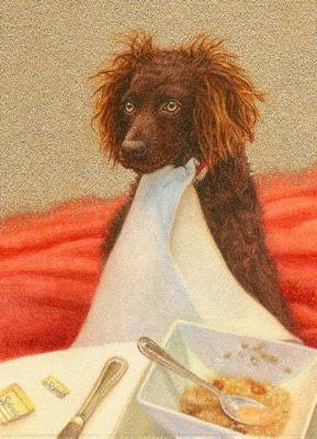 Commissioned Boykin Spaniel Dog Painting by Rachelle Siegrist