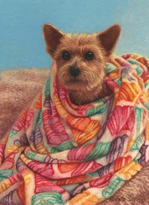 Commissioned Yorkie Painting by Rachelle Siegrist