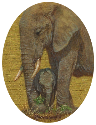 painting of African Elephants by Rachelle Siegrist