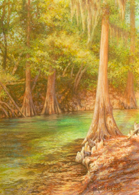 miniature painting of the Suwannee River by Rachelle Siegrist