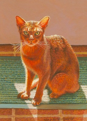 Commissioned Cat Painting by Wes and Rachelle Siegrist
