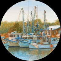 miniature painting of boats