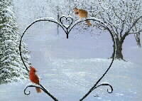 Winter Sweethearts - Cardinals