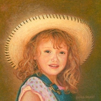 Miniature Portrait Painting of a little girl