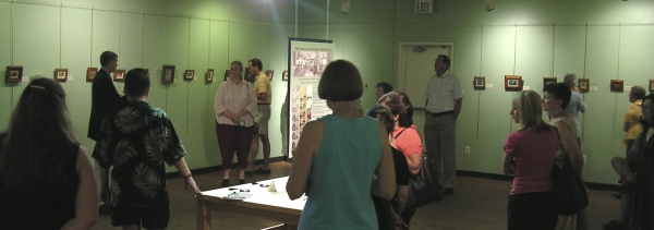 Wes and Rachelle discuss their miniature paintings and answer questions at their World of Nature in Miniature exhibition