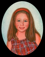 portrait miniature painting of a little girl