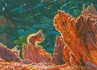 miniature painting of a chipmunk