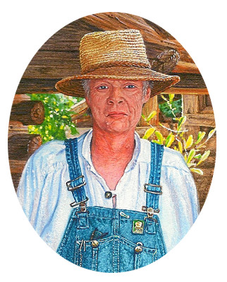 miniature painting of a farmer by Wes Siegrist