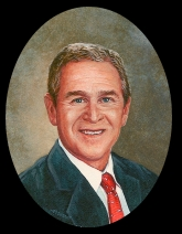 miniature painting of President George W. Bush