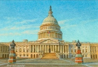 miniature painting of the U.S. Capitol